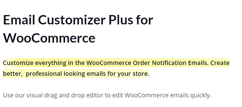 Email Customizer Plus for WooCommerce